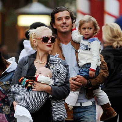 Gwen Stefani, Gavin Rossdale, Kingston Rossdale and Zuma Rossdale Out with Ruby Maguire and Jennifer Meyer