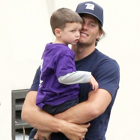 Tom Brady Carrying His Son Jack in Malibu Pictures
