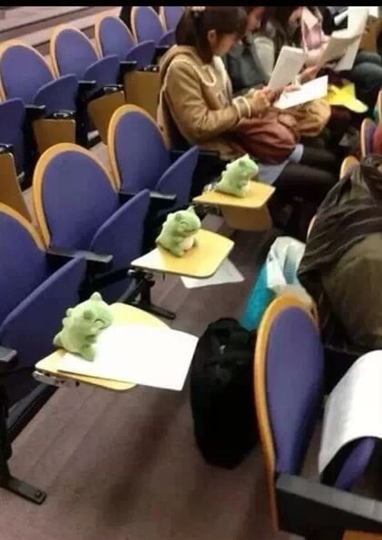 """How to get out of class."" Source: Reddit user OppaWumboStyle via Imgur"