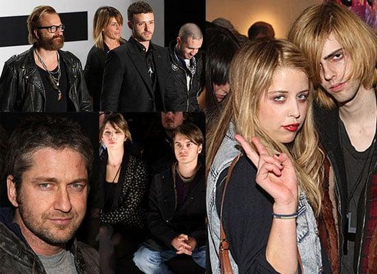 Photos of Justin Timberlake, Jessica Biel, Gerard Butler and Peaches Geldof at New York Fashion Week