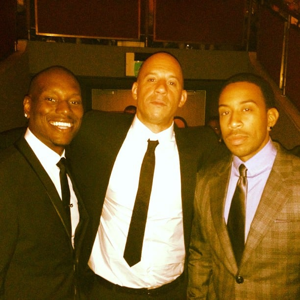 Tyrese Gibson, Vin Diesel, and Ludacris posed together during the red carpet premiere of Fast & Furious 6 in London. Source: Instagram user itsludacris