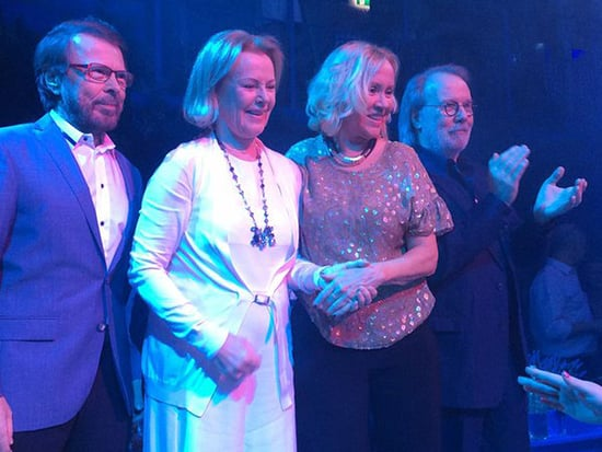 ABBA Reunite at New 'Mamma Mia' Inspired Restaurant in Stockholm