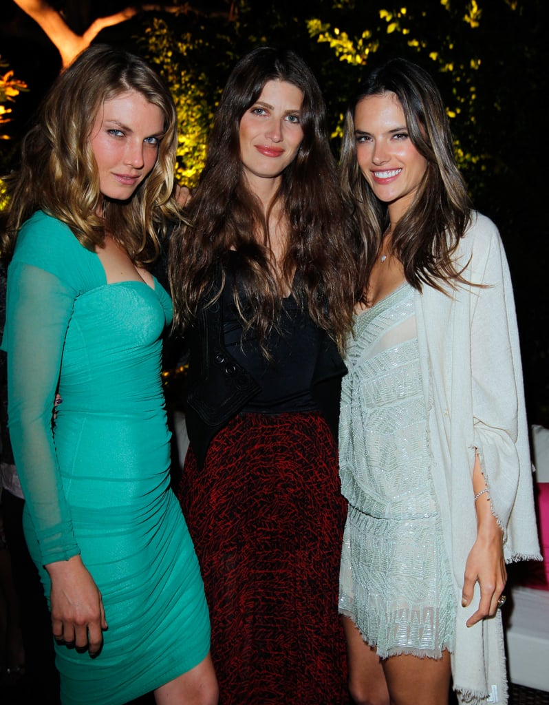 Angela Lindvall, Michelle Alves, and Alessandra Ambrosio