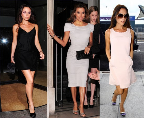Pictures of Victoria Beckham Leaving London After Dining With and Dressing Up Eva Longoria