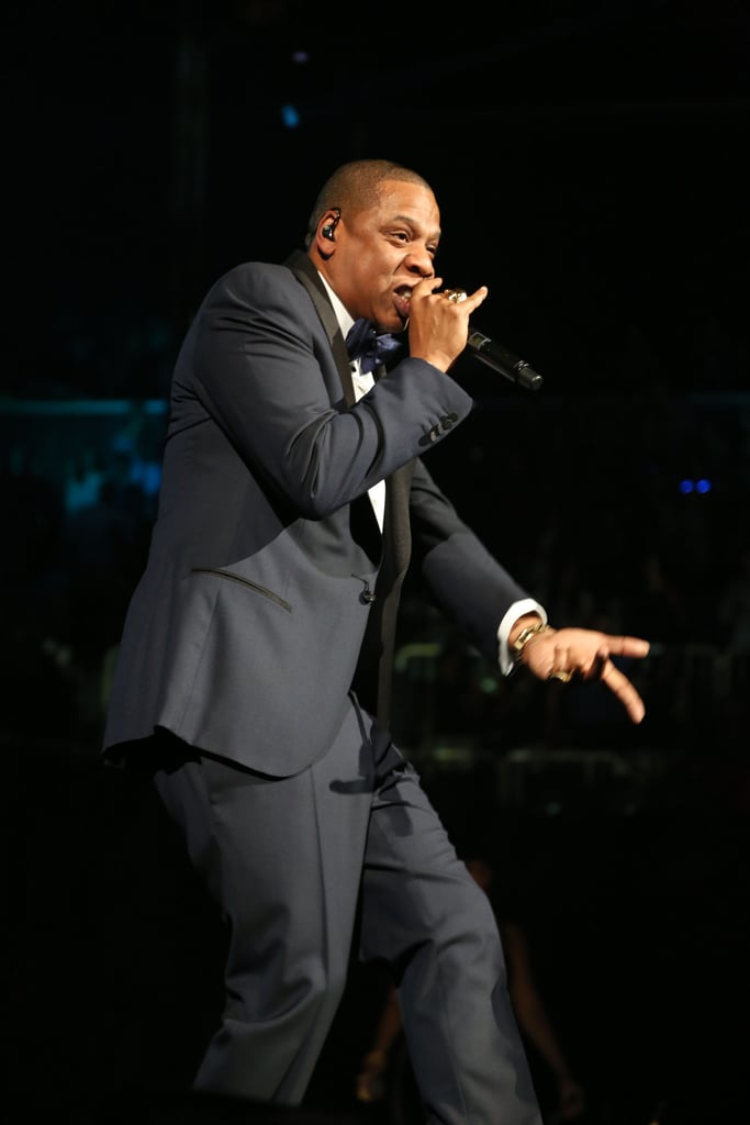Jay-Z performed at Brooklyn's Barclays Center.
