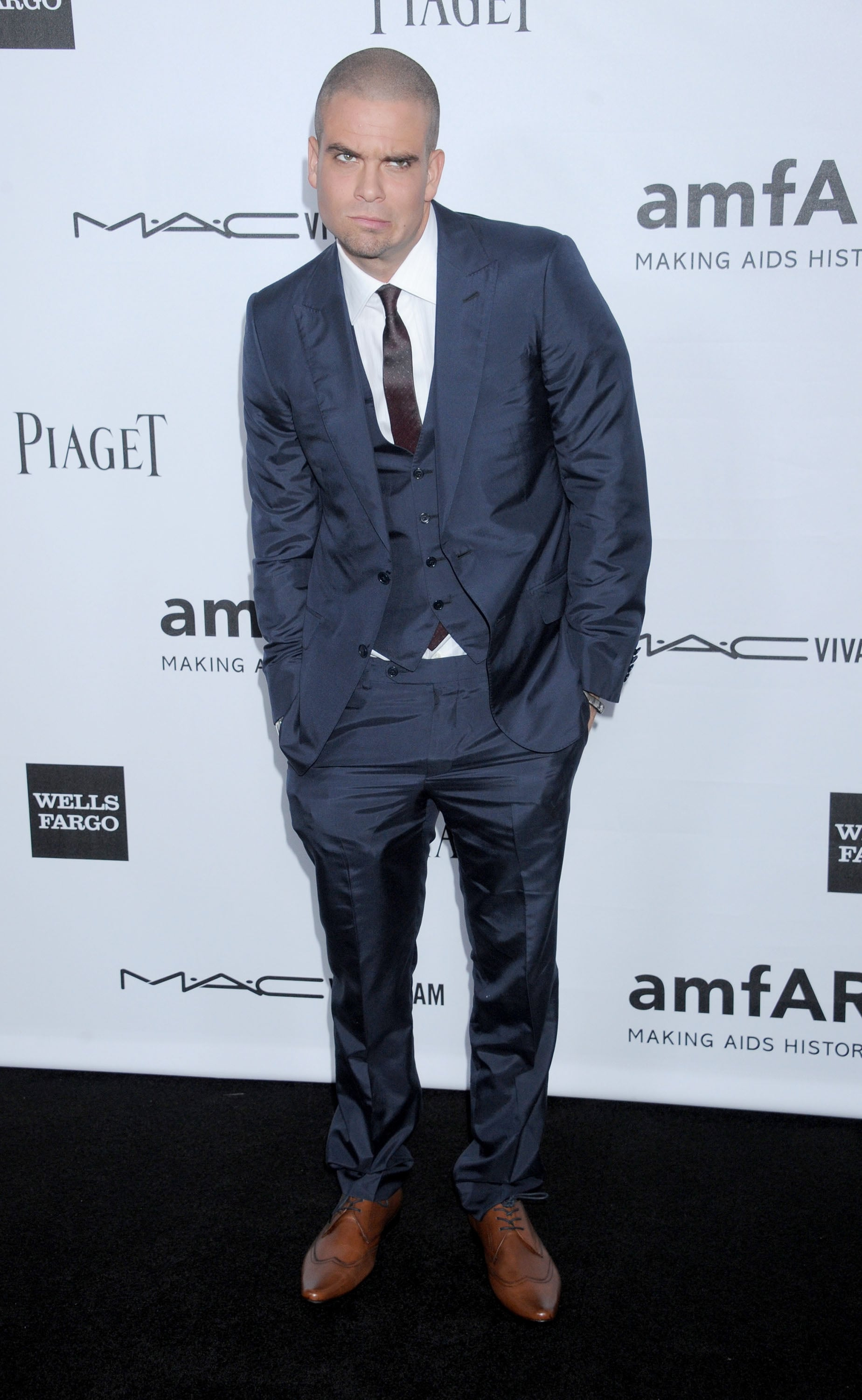 Mark Salling attended the amfAR 3rd Annual Inspiration Gala in LA.