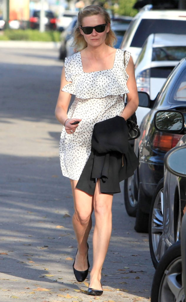 Kirsten Dunst Does Lunch With a Spring in Her Step