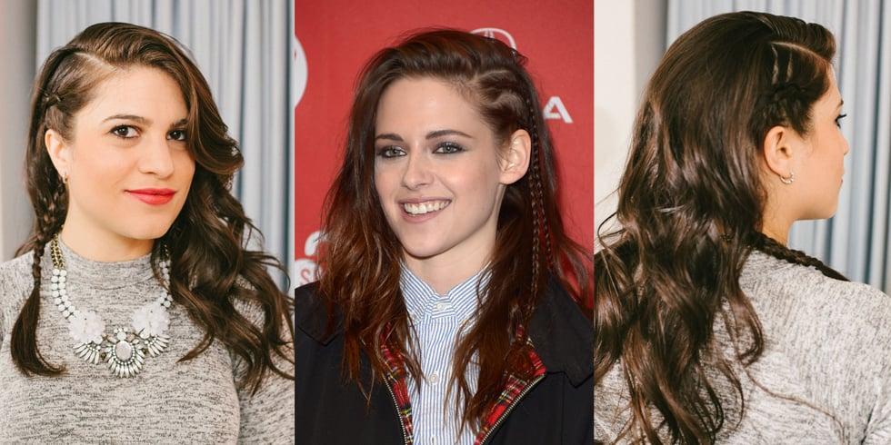DIY a Kristen Stewart-Inspired Faux Braided Undercut