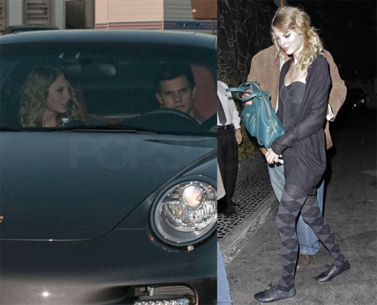 Photos of Taylor Lautner and Taylor Swift Going to Dinner