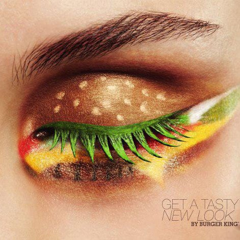 Burger King Eye Makeup Ad