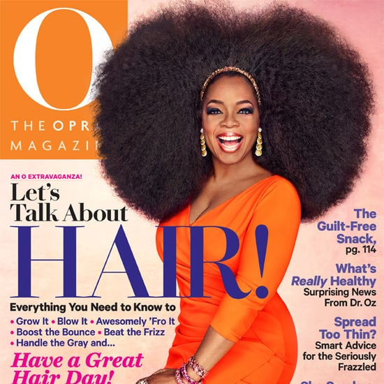 Oprah Big Hair on Cover of O