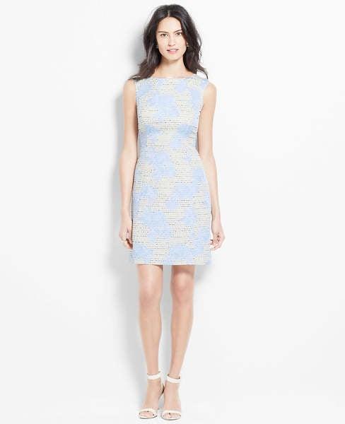 Ann Taylor Floral Cap Sleeve Dress