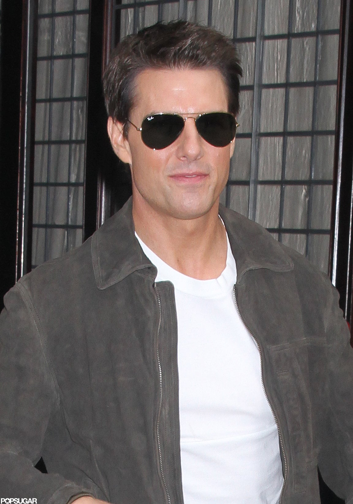 Tom Cruise rocked aviator shades in NYC.