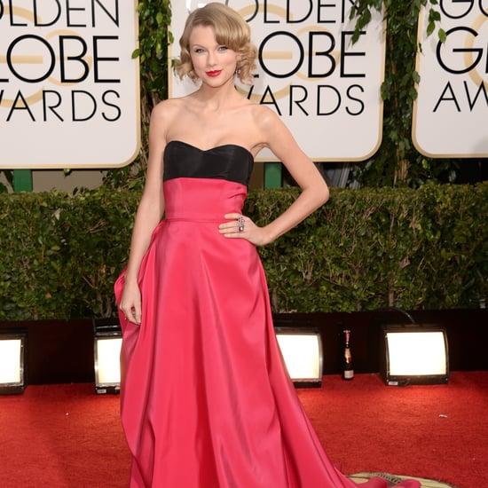 Taylor Swift Dress on Golden Globes 2014 Red Carpet