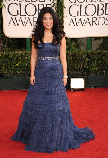 Pictures of Jenna Ushkowitz on the 2011 Golden Globes Red Carpet