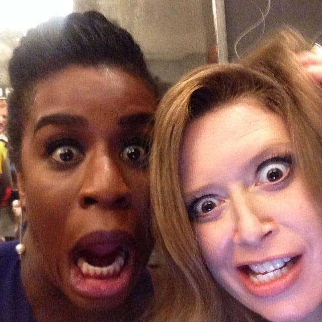 """""""Another day at the office with @nlyonne #oitnb,"""" Uzo Aduba captioned this picture with her Orange Is the New Black costar Natasha Lyonne.  Source: Instagram user uzoaduba"""