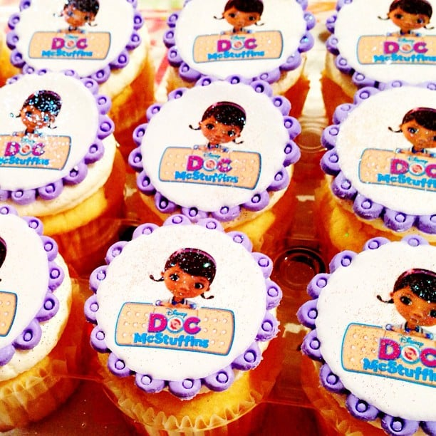 These Doc McStuffins cupcakes from Goodie Girls cupcakery look almost too cute to eat! Source: Instagram user goodiegirlcooks