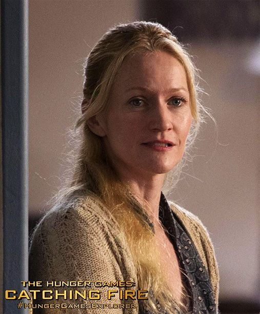 Paula Malcomson reprises her role as Katniss and Prim's mother.