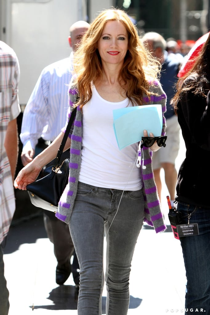 Leslie Mann walked onto the NYC set of The Other Woman on Tuesday.