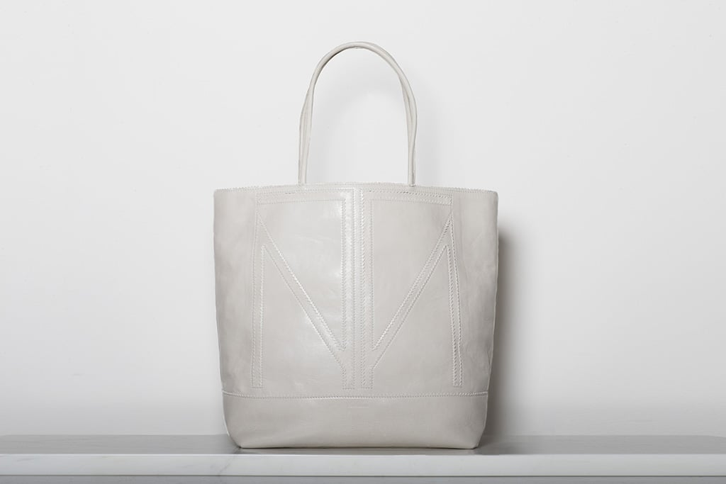 TM Love Calf Tote in Off White ($995) Photo courtesy of Tamara Mellon