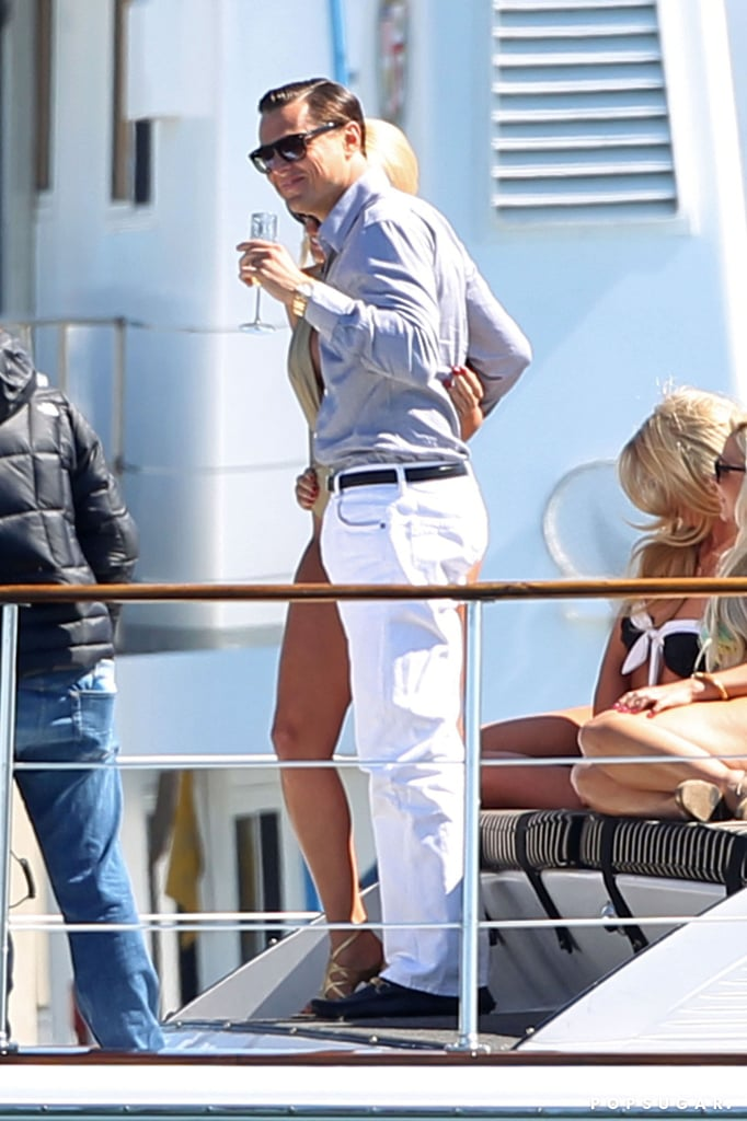 All in a Day's Work — Leo Kisses and Parties With Bikini-Clad Girls on a Yacht
