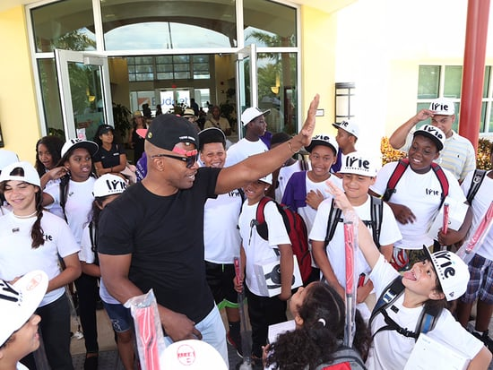 Jamie Foxx Parties for Charity in Miami Beach After Attending Golf Event with Local Kids