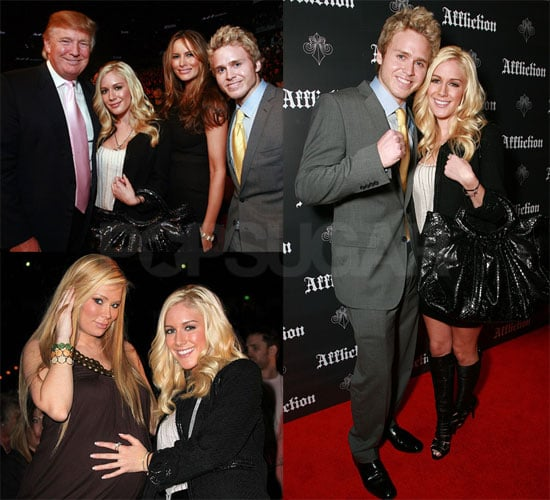 Photos of Heidi Montag and Spencer Pratt with Donald Trump and Jenna Jameson at WAMMA Championships
