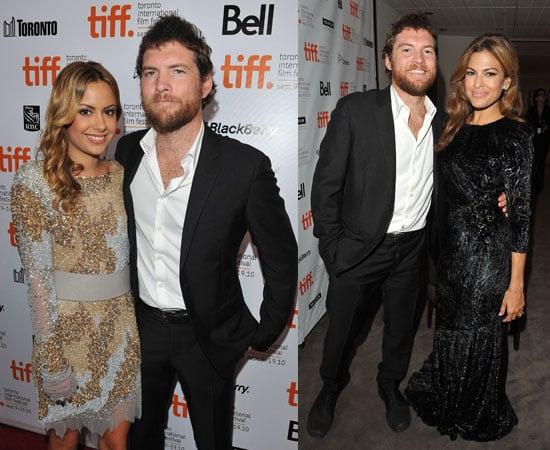 Eva Mendes, Sam Worthington and Girlfriend Natalie Mark at Last Night Premiere at Toronto Film Festival