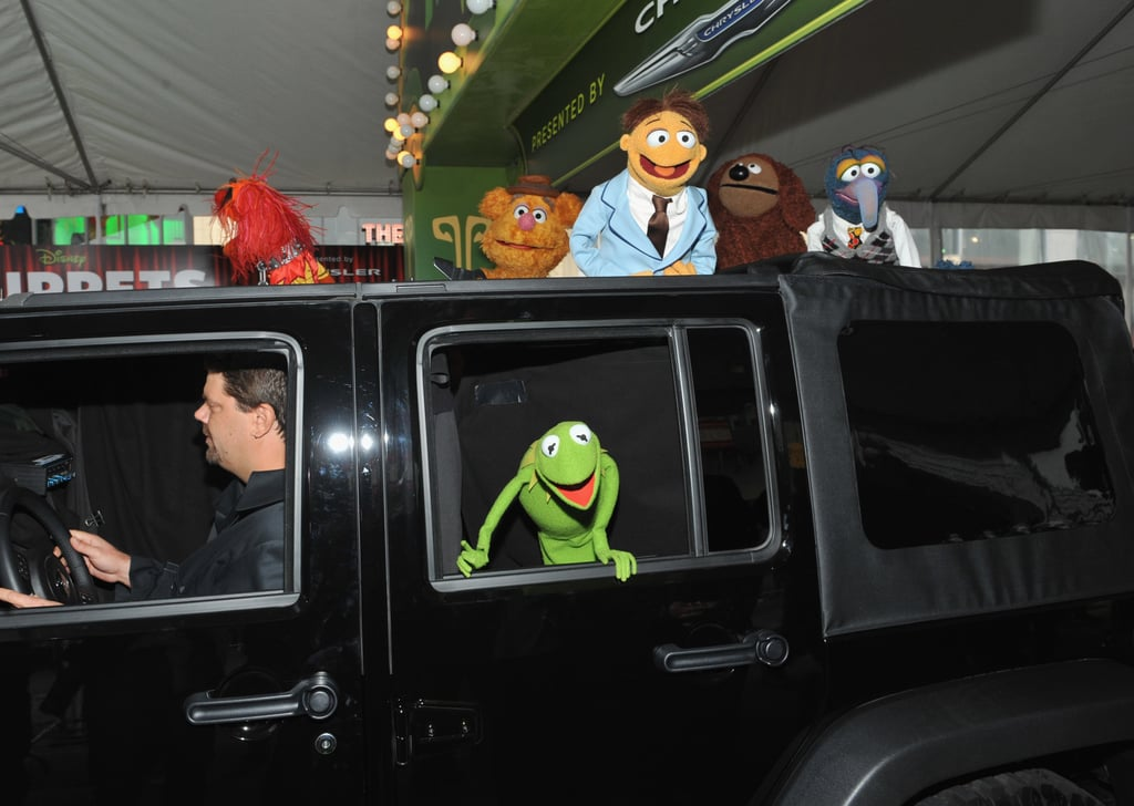 Kermit waved to the crowd from the back of his Jeep.