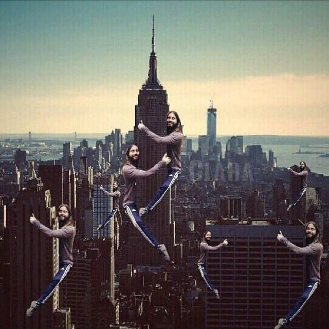 Jared Hugging NYC Skyscrapers