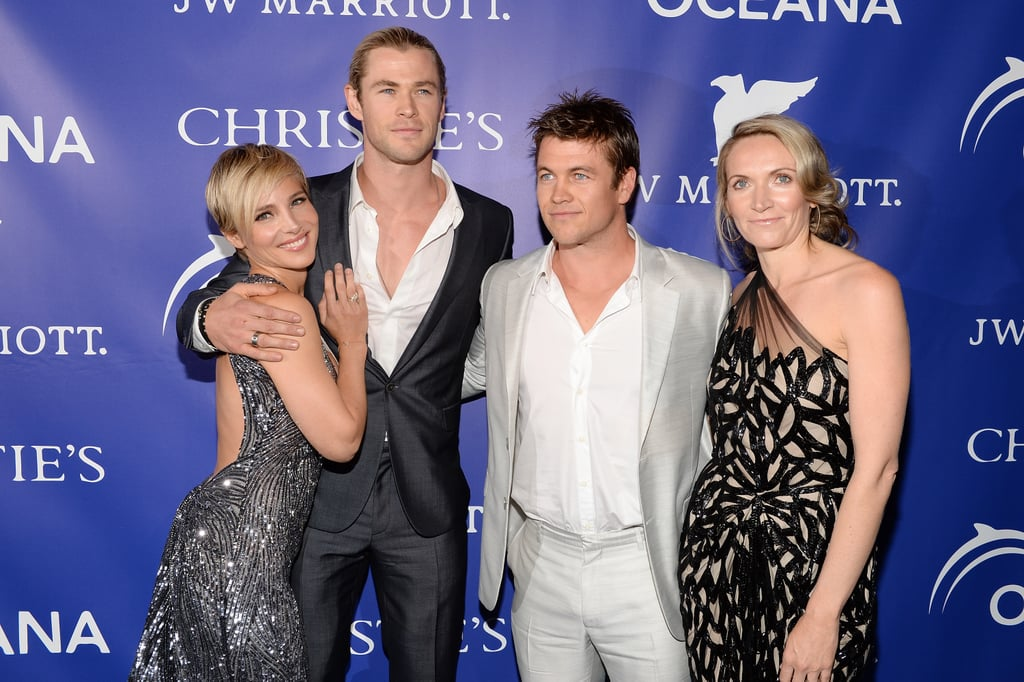 Brotherly love! Chris Hemsworth and his brother Luke had a double-date night with their wives Elsa Pataky and Samantha Hemsworth at the Oceana Ball in New York on April 8.
