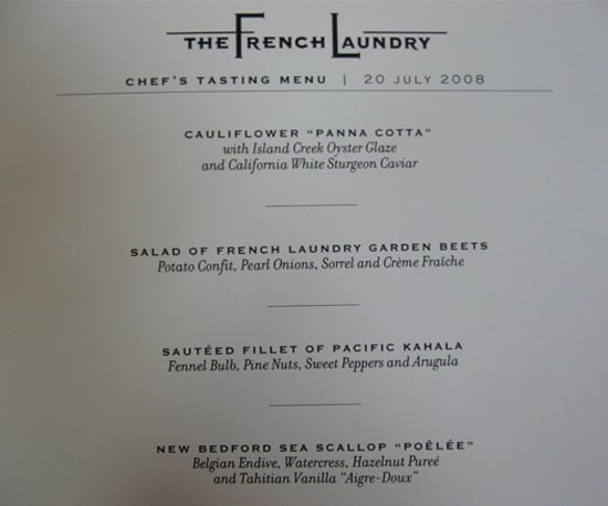 He has stringent rules for The French Laundry's daily menus.