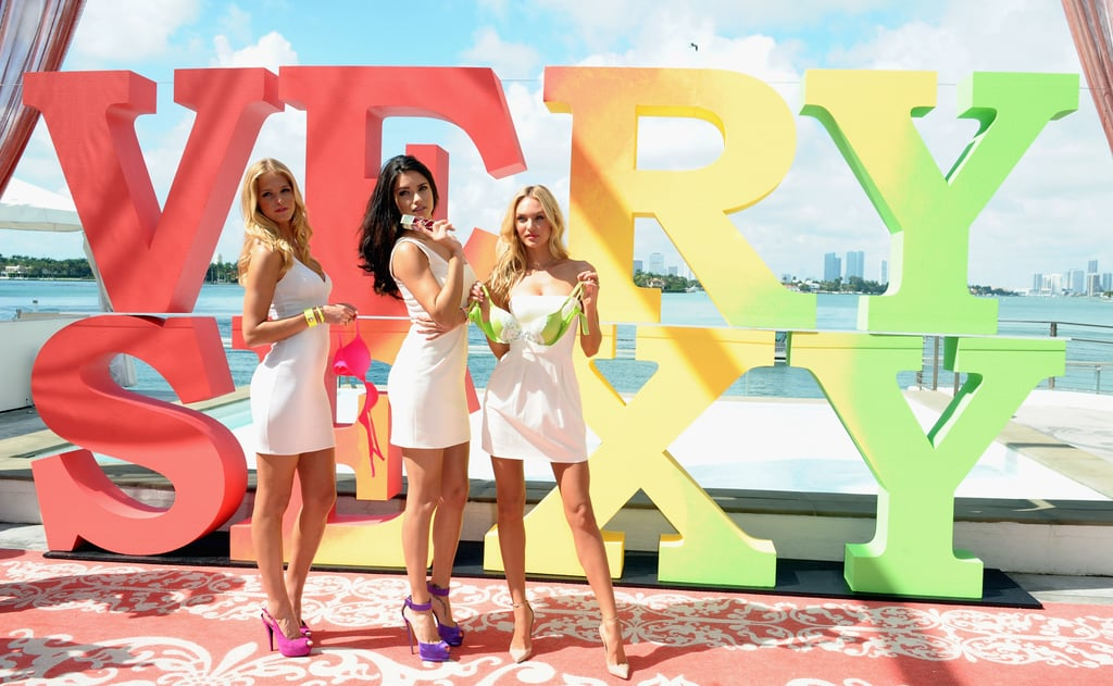 Adriana Lima, Erin Heatherton, and Candice Swanepoel posed in Miami.
