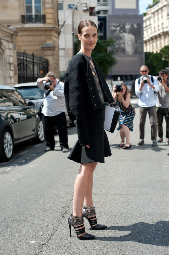 Look to a trumpet skirt for a ladylike effect — then add in statement heels for a high-impact mix up.
