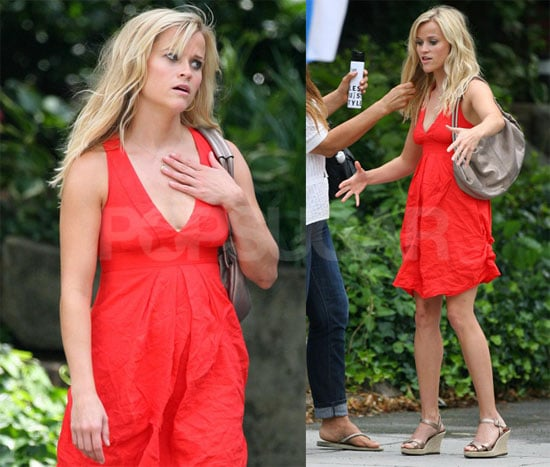 Photos of Reese Witherspoon Filming How Do You Know?