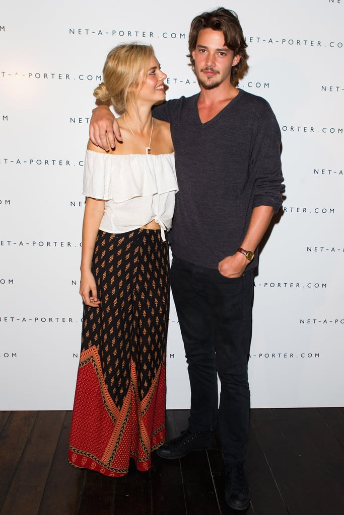 Samara Weaving and Rob Moore