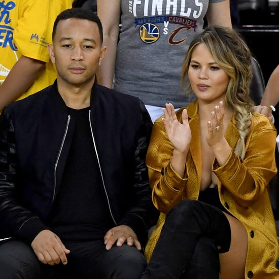 Chrissy Teigen's Outfit at NBA Finals 2016