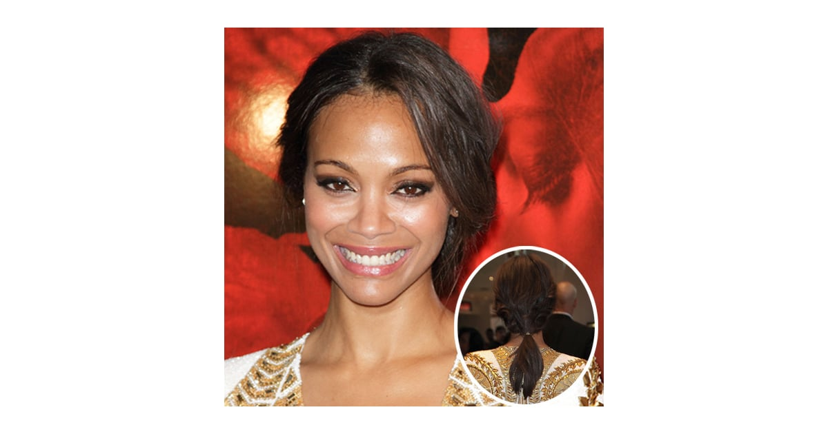 Get Zoe Saldana S Hairstyle From The Colombiana Premiere