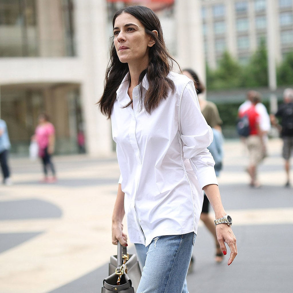 fashionable ways to style a button down shirt popsugar