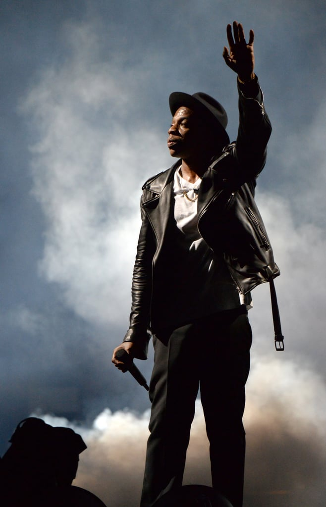 Jay Z in a Leather Jacket