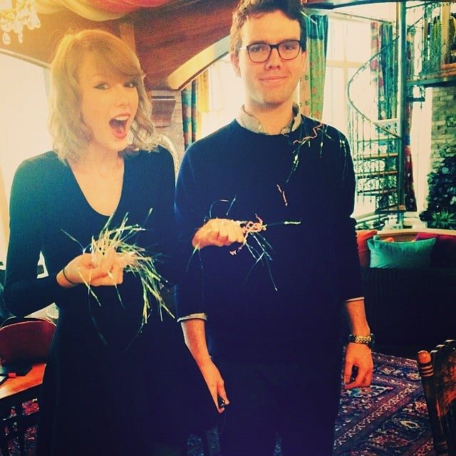 """""""Confetti-bombed my brother for his birthday and he was like,"""" Taylor Swift captioned this photo of her less-than-enthused brother. Source: Instagram user taylorswift"""