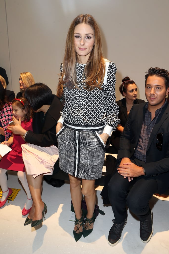 The mix master at work, showing at Andrew Gn how to make a print-on-print look shine by keeping the color palette muted.