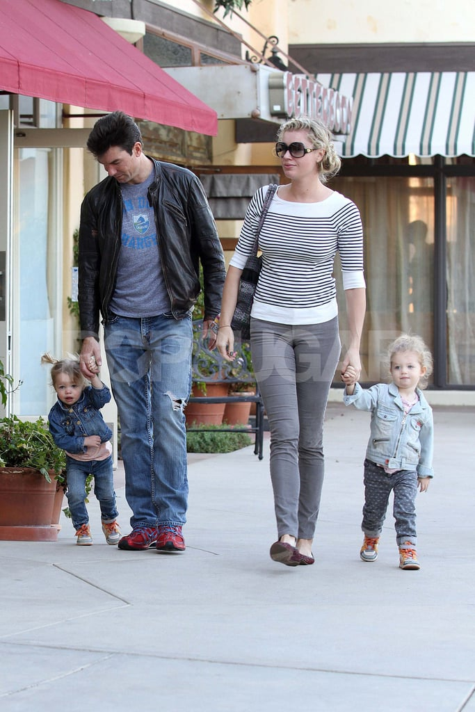 Rebecca Romijn and Jerry O'Connell Take Twins Dolly and Charlie For a Treat