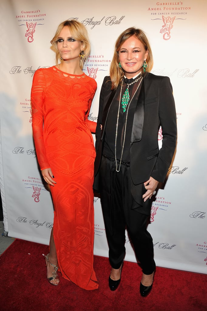 Eva Cavalli and Natasha Poly posed on the red carpet at the Angel Ball in New York City.