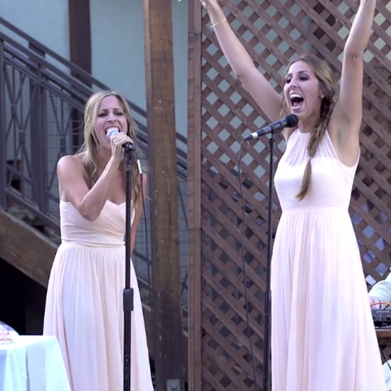 Sisters Sing Mashup For Sister's Wedding Toast
