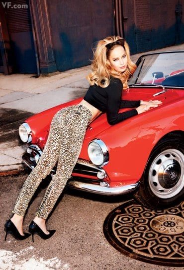 Jennifer Lawrence poses inside Vanity Fair's February 2013 issue.