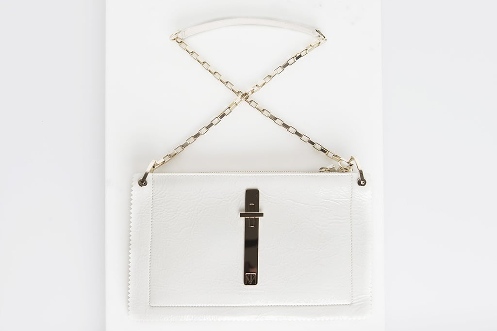 Attraction Patent Shoulder Bag in Cream ($1,795) Photo courtesy of Tamara Mellon