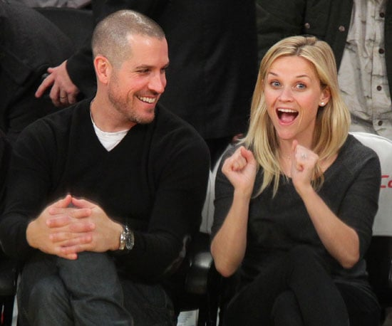 Slide Picture of Jim Toth and Reese Witherspoon at the Lakers Game