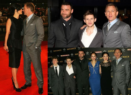 Photos of Daniel Craig, Satsuki Mitchell, Liev Schreiber, Jamie Bell and George Mackay at Defiance Premiere in London