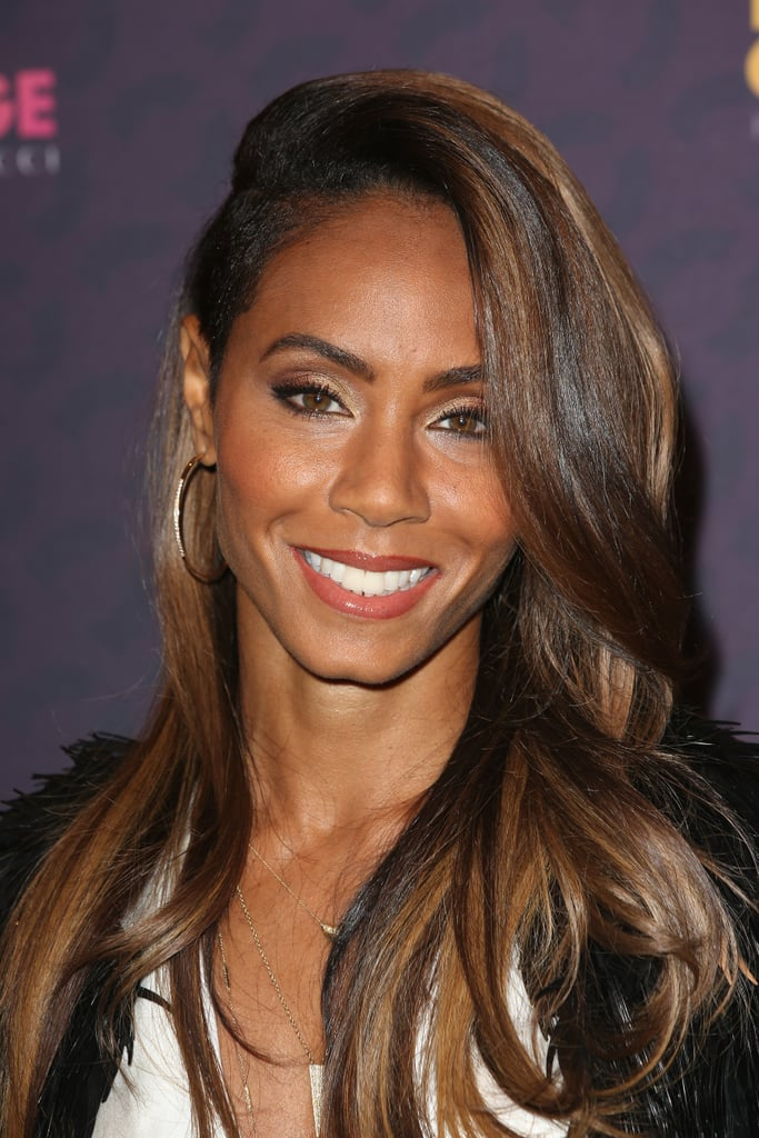 Jada Pinkett Smith showed off a head full of highlights and wore her makeup soft and simple.